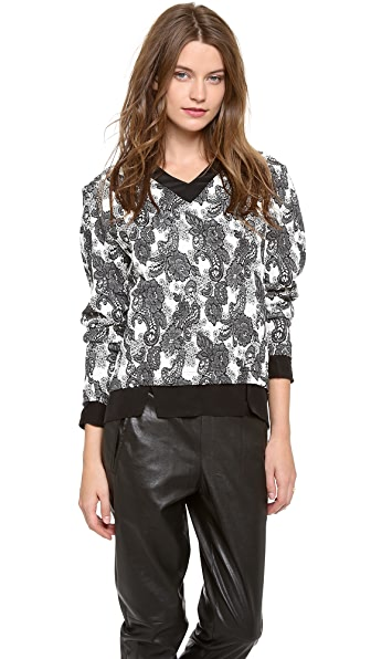 Thakoon Addition Long Sleeve Pullover