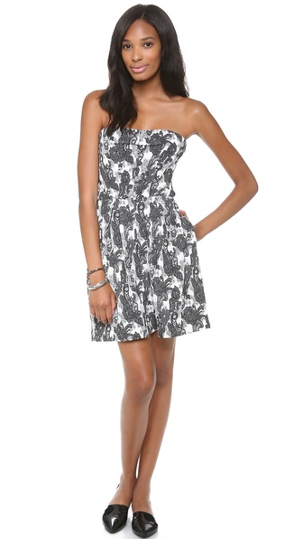 Thakoon Addition Strapless Dress - Black/Ivory at Shopbop / East Dane
