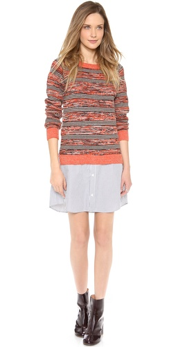 Thakoon Addition Marled Stripe Sweatshirt Dress at Shopbop / East Dane