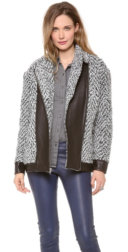 Thakoon Addition Quilted Leather Combo Coat at Shopbop / East Dane