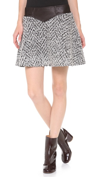 Thakoon Addition Flared Skirt - Black/White/Grey at Shopbop / East Dane