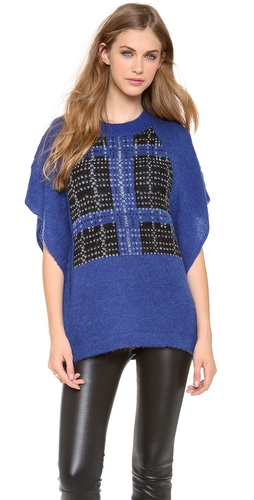 Thakoon Addition Plaid Poncho at Shopbop / East Dane