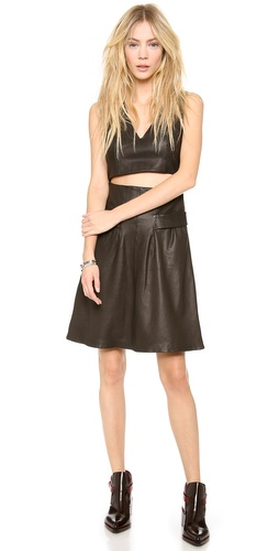 Thakoon Addition Cutout Midriff Leather Dress at Shopbop / East Dane