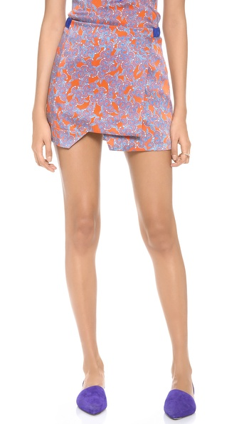 Thakoon Addition Front Panel Skirt - Orange/Blue at Shopbop / East Dane