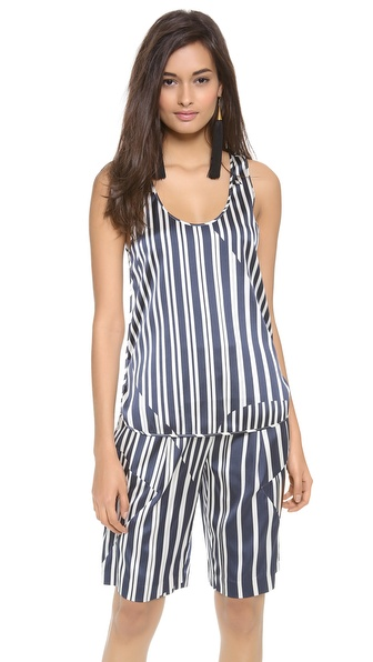 Thakoon Addition Striped Tank - Navy/Ivory at Shopbop / East Dane