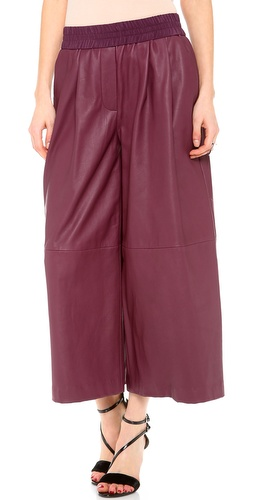 Thakoon Addition Leather Wide Leg Culotte Pants at Shopbop / East Dane