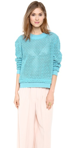 Thakoon Addition Lace Eyelet Pullover at Shopbop / East Dane
