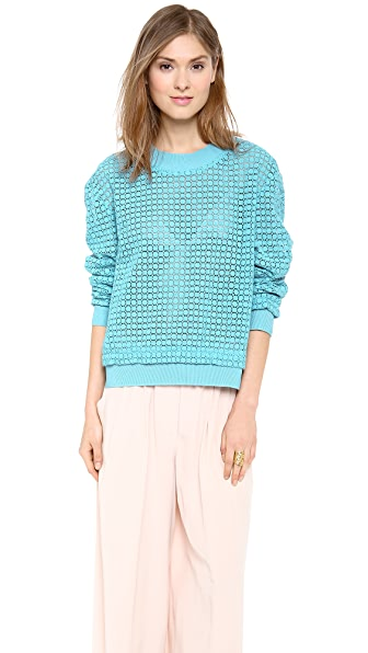 Thakoon Addition Lace Eyelet Pullover