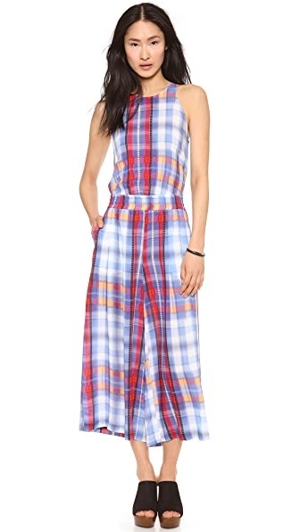 Thakoon Addition Plaid Tank Jumpsuit
