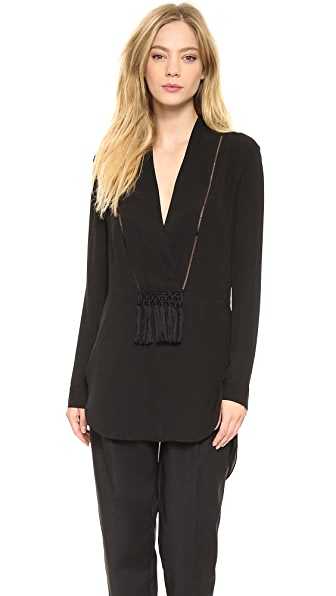 Thakoon Addition Shawl Collar Tunic