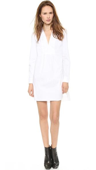 Thakoon Addition Long Sleeve V Front Shirtdress