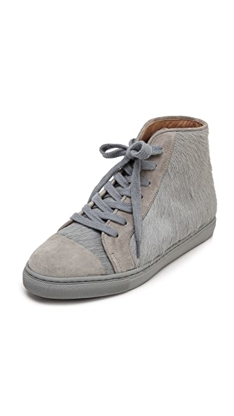 Thakoon Addition High Top Haircalf Sneakers
