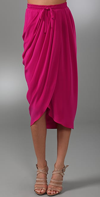 Thakoon Draped Front Long Skirt