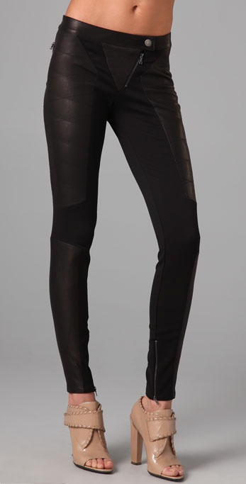 Thakoon Breakaway Leather Leggings