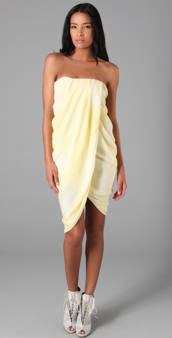 Thakoon Strapless Draped Dress