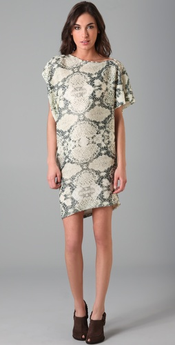 Thakoon Sequin Draped T Shirt Dress