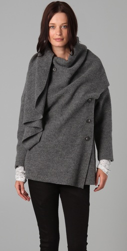 Thakoon Scarf Neck Wrap Jacket