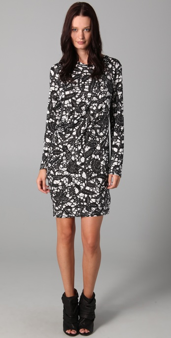 Thakoon Thakoon Carbon Copy Draped Dress