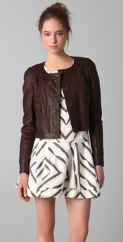 Thakoon Pocket Front Leather Jacket