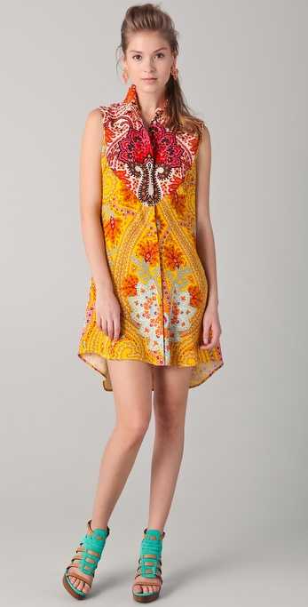 Thakoon Sleeveless Western Shirtdress