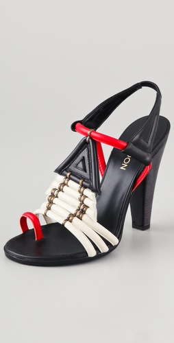 Thakoon Toe Ring High Heel Sandals