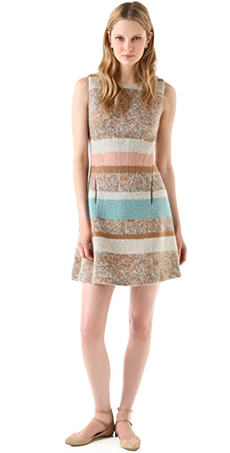 Thakoon Seamed Waist Flared Dress