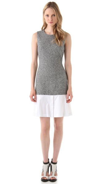 Thakoon Contrast Hem Shift Dress