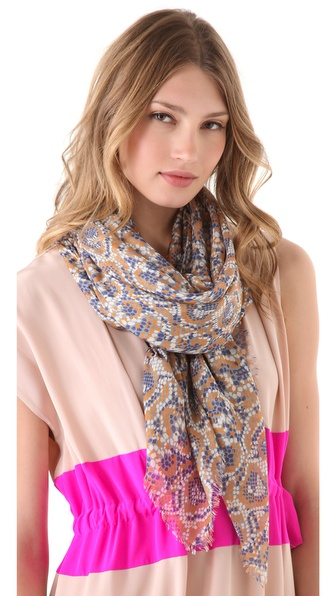 Thakoon Mosaic Snake Printed Scarf