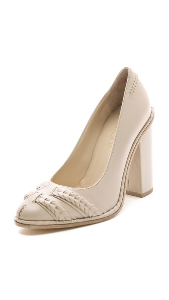Thakoon Pumps with Stitching & Braids