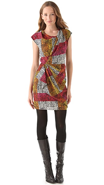 Thakoon Spotted Plaid Sheath Dress