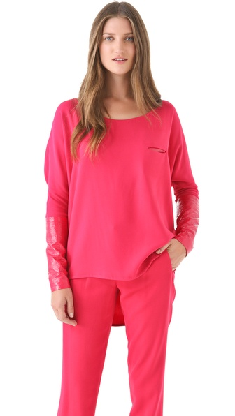 Thakoon Stretch Crepe Pullover