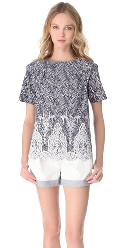 Thakoon Short Sleeve Top