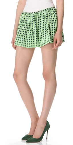 Thakoon Full Check Shorts