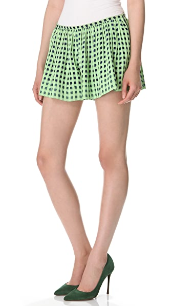 Thakoon Full Check Shorts