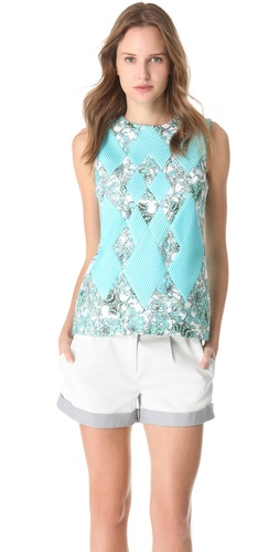 Thakoon Woven Front Top at Shopbop.com