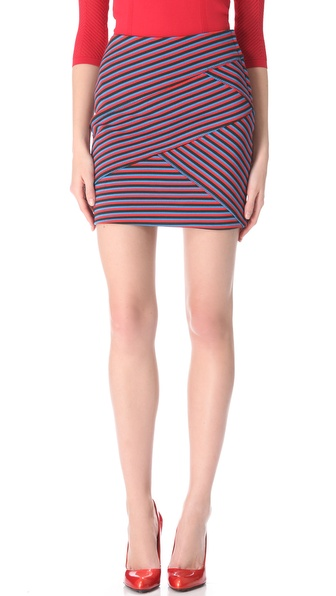 Thakoon Striped Miniskirt