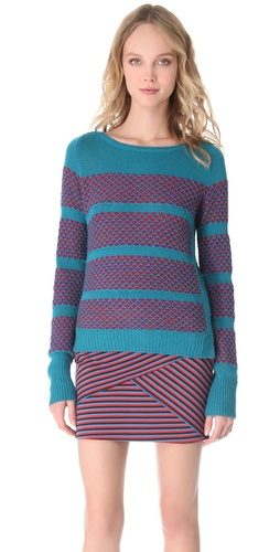 Thakoon Geo Boat Neck Sweater at Shopbop.com