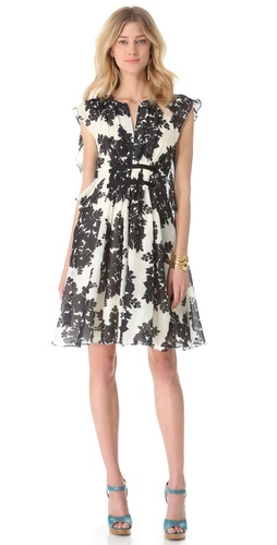 Thakoon Butterfly Sleeve Dress