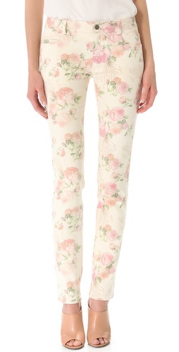 Thakoon Floral Slim Jeans at Shopbop.com