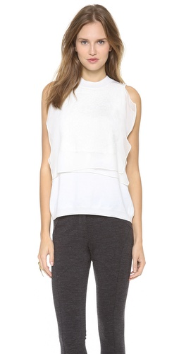 Thakoon Chiffon Front Embroidered Shell at Shopbop / East Dane