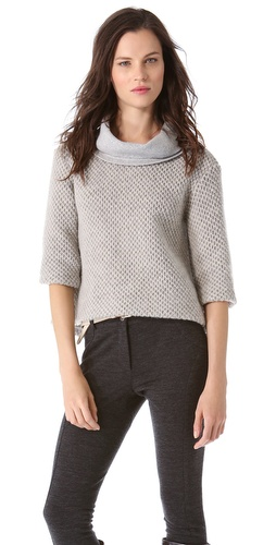 Thakoon Cropped Cowl Sweater at Shopbop / East Dane