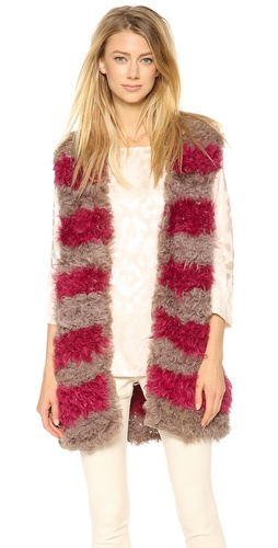Thakoon Draped Fur Vest at Shopbop / East Dane