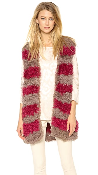 Thakoon Draped Fur Vest
