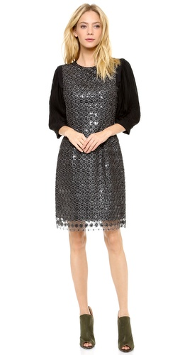 Thakoon Metallic Lace Sequined Dress at Shopbop / East Dane