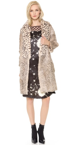 Thakoon Fur Coat with 3/4 Sleeves at Shopbop / East Dane