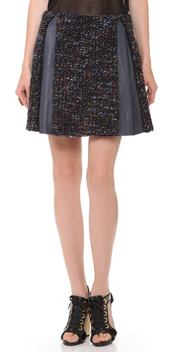Thakoon Leather Combo Pleated Skirt at Shopbop / East Dane