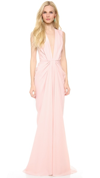 Thakoon V Neck Plunge Gown