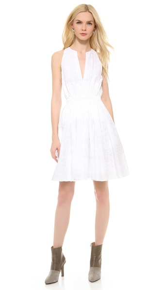 Thakoon Sleeveless Cinched Waist Dress