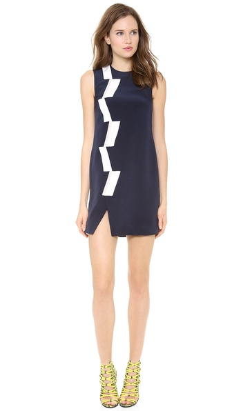 Thakoon Sleeveless Basketweave Panel Dress - Navy at Shopbop
