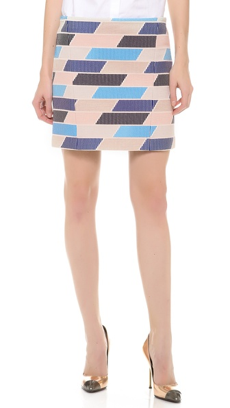 Thakoon Check Tweed Skirt - Multi at Shopbop